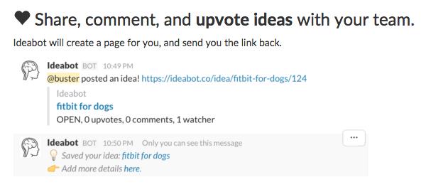 Ideabot for Slack