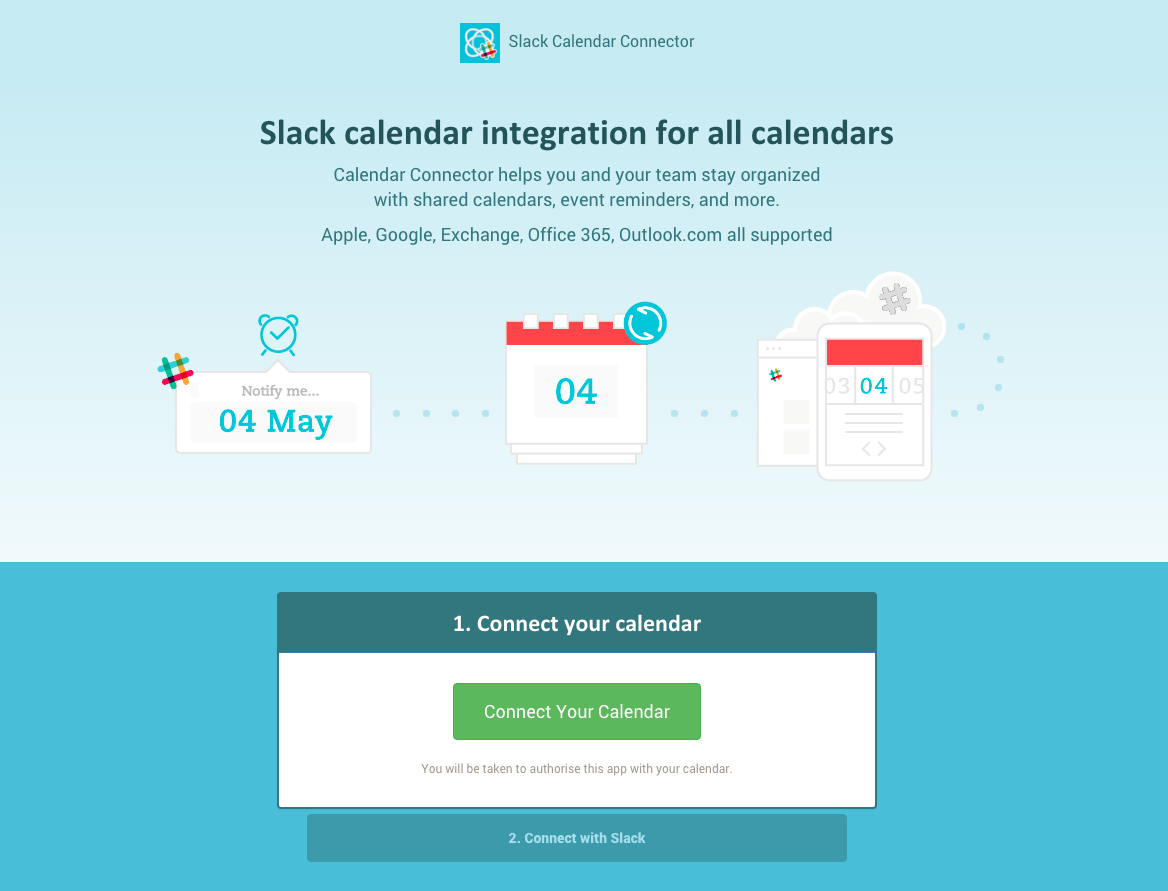 Calendar Connector for Slack