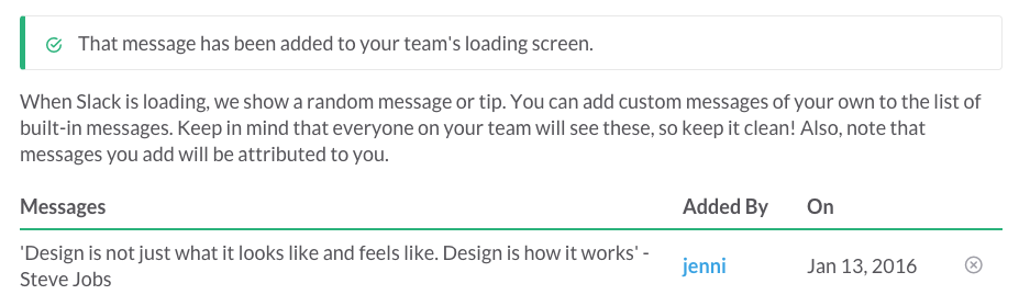 Slack Custom Loading Messages