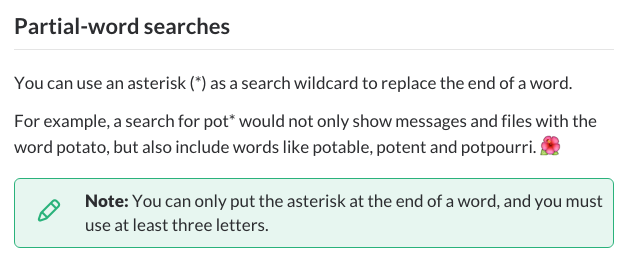 Search modifiers in Slack
