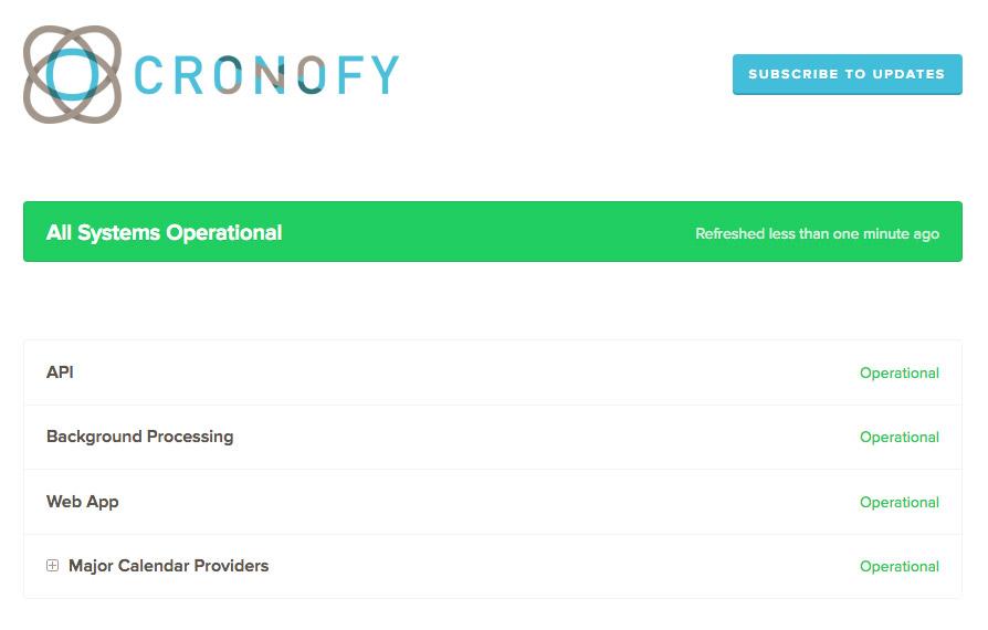 Cronofy System Status