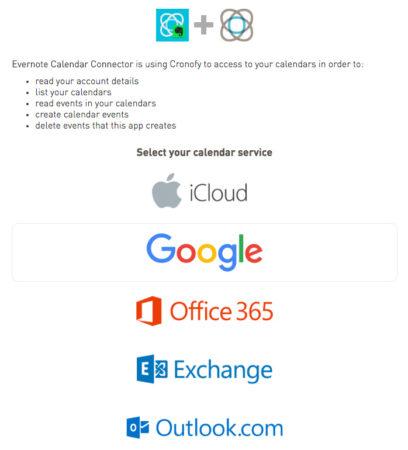 Evernote Google Calendar