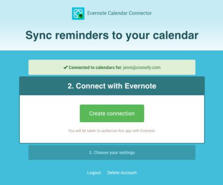 Evernote Calendar Integration