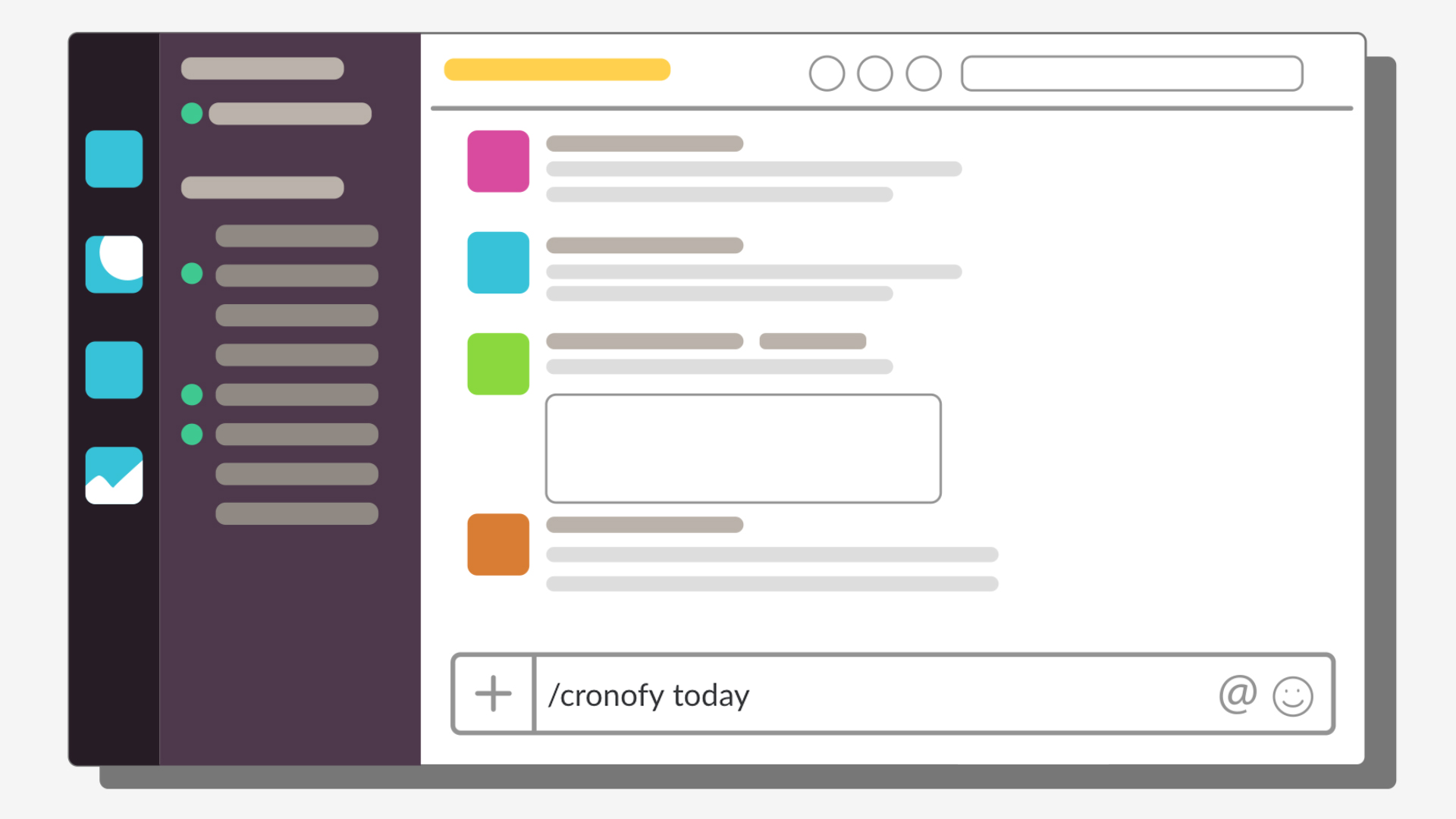 See a list of your upcoming meetings in Slack.